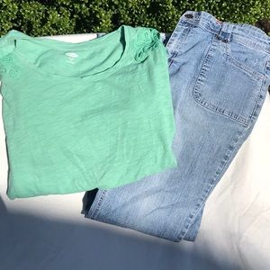 Girls 16 Plus Lot 2 Piece Outfit Jeans and Shirt